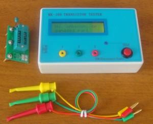 Transistor Tester Diode Triode Capacitance ESR Meter MOS PNP NPN + Clip + Socket eBay