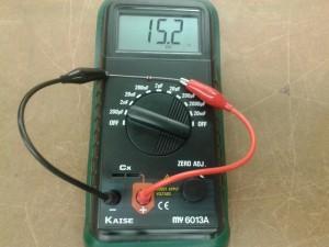 Comprobación de un DIAC con un Capacímetro