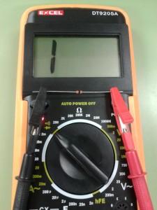 Comprobación de un DIAC midiendo Continuidad con un Polímetro Digital