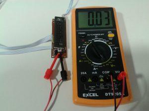 Comprobación de un Receptor de IR con un Mando a Distancia midiendo Tensión Alterna con un Polímetro Digital-1