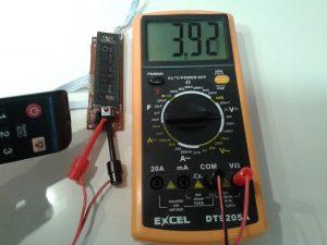 Comprobación de un Receptor de IR con un Mando a Distancia midiendo Tensión Continua con un Polímetro Digital-2