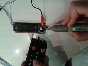 Comprobación de un Receptor de IR con un Mando a Distancia midiendo con una sonda lógica-2