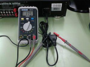 No mide sobrerango , el Primario de la Fuente es correcto: el cable, fusible, interruptor, primario del transformador o resistencia o motor, etc.
